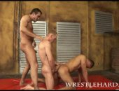 Wrestlers Threesome
